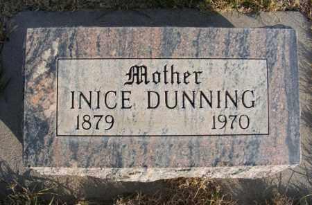 DUNNING, INICE - Box Butte County, Nebraska | INICE DUNNING - Nebraska Gravestone Photos