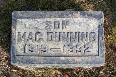 DUNNING, MAC - Box Butte County, Nebraska | MAC DUNNING - Nebraska Gravestone Photos