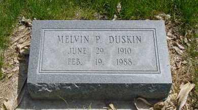 DUSKIN, MELVIN P. - Box Butte County, Nebraska | MELVIN P. DUSKIN - Nebraska Gravestone Photos
