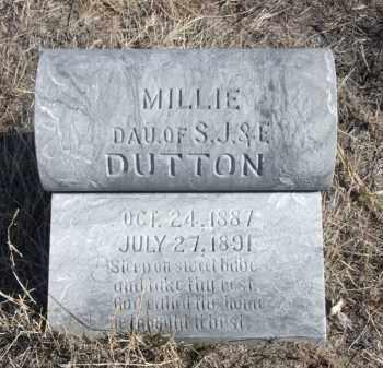 DUTTON, MILLIE - Box Butte County, Nebraska | MILLIE DUTTON - Nebraska Gravestone Photos