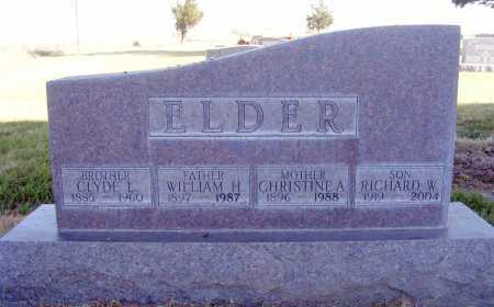 ELDER, WILLIAM H. - Box Butte County, Nebraska | WILLIAM H. ELDER - Nebraska Gravestone Photos