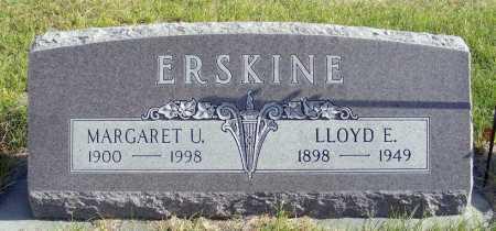 ERSKINE, MARGARET U. - Box Butte County, Nebraska | MARGARET U. ERSKINE - Nebraska Gravestone Photos