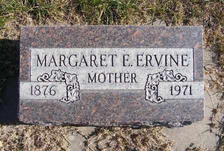 GRAHAM ERVINE, MARGARET E. - Box Butte County, Nebraska | MARGARET E. GRAHAM ERVINE - Nebraska Gravestone Photos