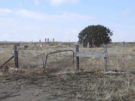 EVERGREEN CEMETERY, ENTRANCE TO - Box Butte County, Nebraska   ENTRANCE TO EVERGREEN CEMETERY - Nebraska Gravestone Photos