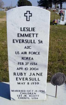EVERSULL, LESLIE EMMETT SR. - Box Butte County, Nebraska   LESLIE EMMETT SR. EVERSULL - Nebraska Gravestone Photos