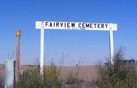 *FAIRVIEW CEMETERY, DIRECTIONAL SIGN - Box Butte County, Nebraska | DIRECTIONAL SIGN *FAIRVIEW CEMETERY - Nebraska Gravestone Photos