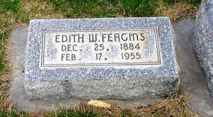 FEAGINS, EDITH W. - Box Butte County, Nebraska | EDITH W. FEAGINS - Nebraska Gravestone Photos
