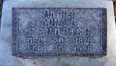 FENDRICH, ANNA G. - Box Butte County, Nebraska | ANNA G. FENDRICH - Nebraska Gravestone Photos