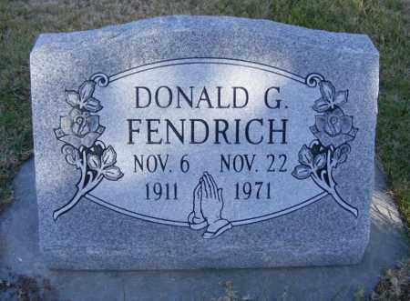 FENDRICH, DONALD G. - Box Butte County, Nebraska | DONALD G. FENDRICH - Nebraska Gravestone Photos
