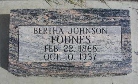 JOHNSON FODNES, BERTHA - Box Butte County, Nebraska | BERTHA JOHNSON FODNES - Nebraska Gravestone Photos