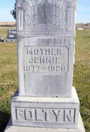FOLTYN, JENNIE - Box Butte County, Nebraska | JENNIE FOLTYN - Nebraska Gravestone Photos