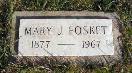 FOSKET, MARY J. - Box Butte County, Nebraska | MARY J. FOSKET - Nebraska Gravestone Photos