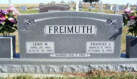 FREIMUTH, LEWIS W. - Box Butte County, Nebraska | LEWIS W. FREIMUTH - Nebraska Gravestone Photos