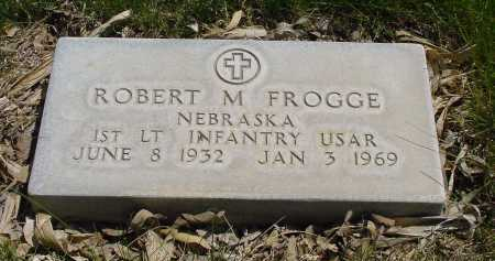 FROGGE, ROBERT  M. - Box Butte County, Nebraska   ROBERT  M. FROGGE - Nebraska Gravestone Photos