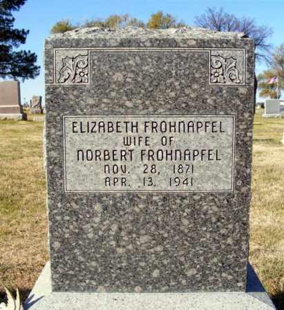 FROHNAPFEL, ELIZABETH - Box Butte County, Nebraska   ELIZABETH FROHNAPFEL - Nebraska Gravestone Photos