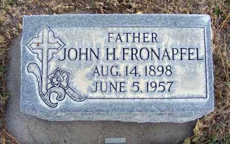 FRONAPFEL, JOHN H. - Box Butte County, Nebraska | JOHN H. FRONAPFEL - Nebraska Gravestone Photos