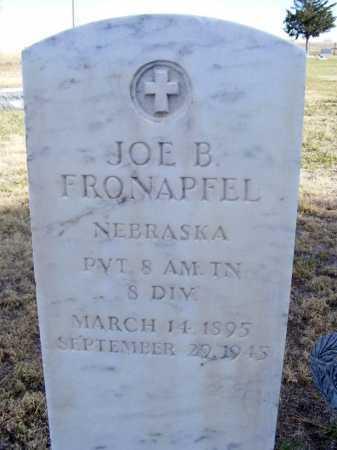 FRONAPFEL, JOE B. - Box Butte County, Nebraska | JOE B. FRONAPFEL - Nebraska Gravestone Photos