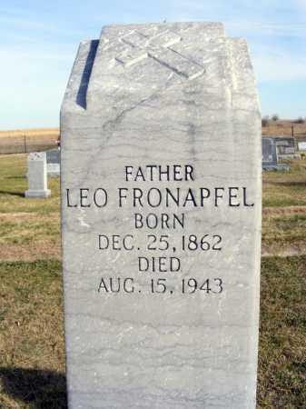 FRONAPFEL, LEO - Box Butte County, Nebraska | LEO FRONAPFEL - Nebraska Gravestone Photos