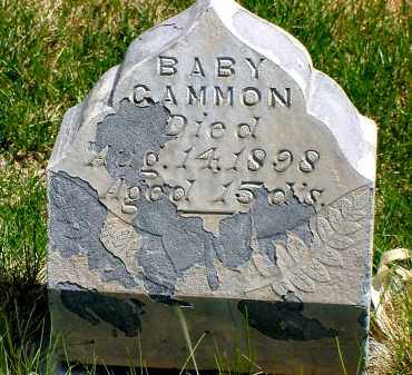 GAMMON, BABY - Box Butte County, Nebraska | BABY GAMMON - Nebraska Gravestone Photos