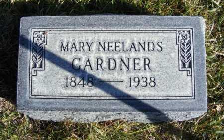 NEELAND GARDNER, MARY ANN - Box Butte County, Nebraska | MARY ANN NEELAND GARDNER - Nebraska Gravestone Photos