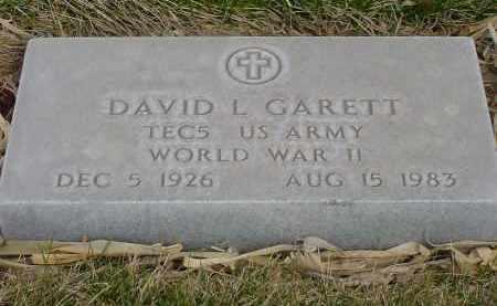 GARETT, DAVID L. - Box Butte County, Nebraska   DAVID L. GARETT - Nebraska Gravestone Photos