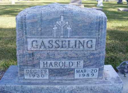GASSELING, HAROLD F. - Box Butte County, Nebraska | HAROLD F. GASSELING - Nebraska Gravestone Photos