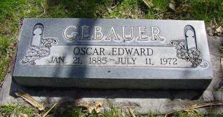 GEBAUER, OSCAR EDWARD - Box Butte County, Nebraska | OSCAR EDWARD GEBAUER - Nebraska Gravestone Photos