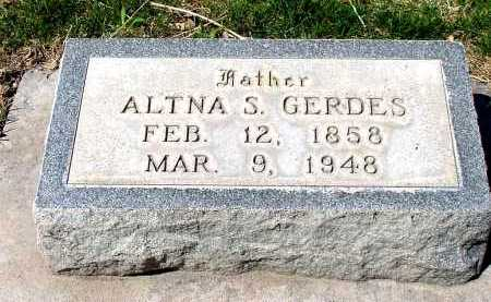 GERDES, ALTNA S. - Box Butte County, Nebraska   ALTNA S. GERDES - Nebraska Gravestone Photos