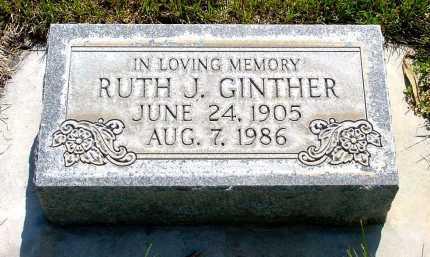 GINTHER, RUTH J. - Box Butte County, Nebraska   RUTH J. GINTHER - Nebraska Gravestone Photos
