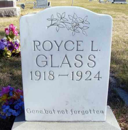 GLASS, ROYCE L. - Box Butte County, Nebraska | ROYCE L. GLASS - Nebraska Gravestone Photos