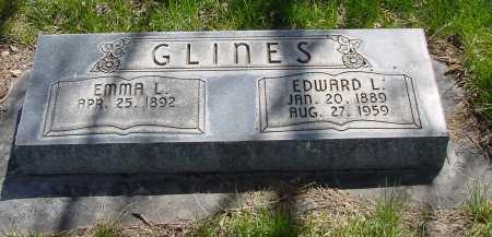 GLINES, EDWARD L. - Box Butte County, Nebraska | EDWARD L. GLINES - Nebraska Gravestone Photos