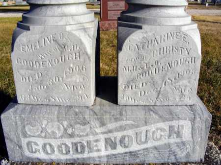 GOODENOUGH, EMELINE O. - Box Butte County, Nebraska | EMELINE O. GOODENOUGH - Nebraska Gravestone Photos