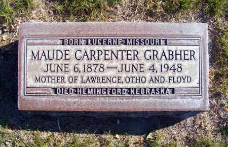 CARPENTER GRABHER, MAUDE A. - Box Butte County, Nebraska | MAUDE A. CARPENTER GRABHER - Nebraska Gravestone Photos