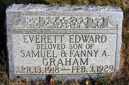 GRAHAM, EVERETT EDWARD - Box Butte County, Nebraska   EVERETT EDWARD GRAHAM - Nebraska Gravestone Photos