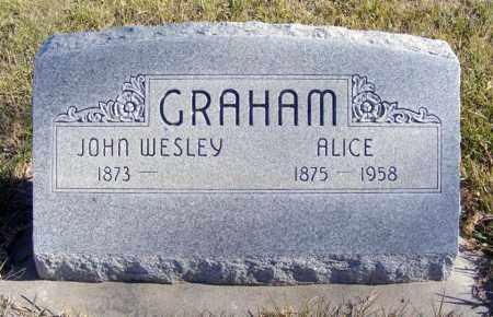 GRAHAM, JOHN WESLEY - Box Butte County, Nebraska | JOHN WESLEY GRAHAM - Nebraska Gravestone Photos