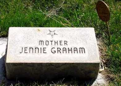 GRAHAM, JENNIE - Box Butte County, Nebraska | JENNIE GRAHAM - Nebraska Gravestone Photos
