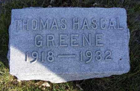 GREENE, THOMAS HASCAL - Box Butte County, Nebraska   THOMAS HASCAL GREENE - Nebraska Gravestone Photos