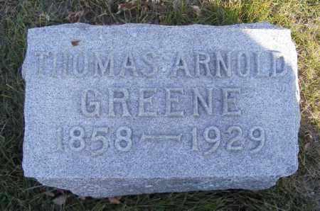 GREENE, THOMAS ARNOLD - Box Butte County, Nebraska | THOMAS ARNOLD GREENE - Nebraska Gravestone Photos