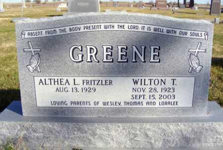 FRITZLER GREENE, ALTHEA L. - Box Butte County, Nebraska | ALTHEA L. FRITZLER GREENE - Nebraska Gravestone Photos