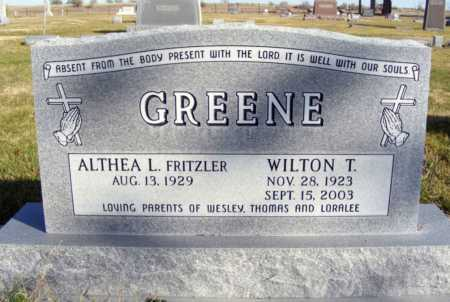 GREENE, ALTHEA L. - Box Butte County, Nebraska | ALTHEA L. GREENE - Nebraska Gravestone Photos