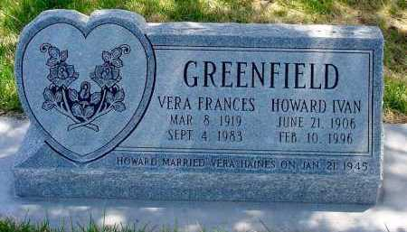 HAINES GREENFIELD, VERA FRANCES - Box Butte County, Nebraska   VERA FRANCES HAINES GREENFIELD - Nebraska Gravestone Photos