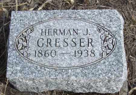 GRESSER, HERMAN J. - Box Butte County, Nebraska | HERMAN J. GRESSER - Nebraska Gravestone Photos