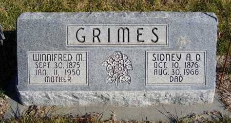 GRIMES, SIDNEY A.D. - Box Butte County, Nebraska | SIDNEY A.D. GRIMES - Nebraska Gravestone Photos