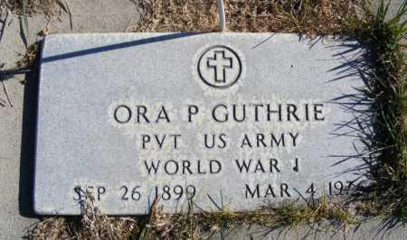 GUTHRIE, ORA P. - Box Butte County, Nebraska | ORA P. GUTHRIE - Nebraska Gravestone Photos