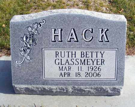 HACK, RUTH BETTY - Box Butte County, Nebraska | RUTH BETTY HACK - Nebraska Gravestone Photos