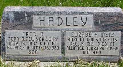 HADLEY, FRED A. - Box Butte County, Nebraska | FRED A. HADLEY - Nebraska Gravestone Photos