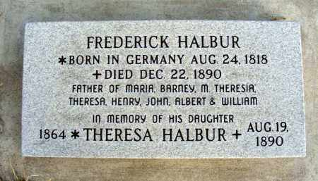 HALBUR, FREDERICK - Box Butte County, Nebraska | FREDERICK HALBUR - Nebraska Gravestone Photos