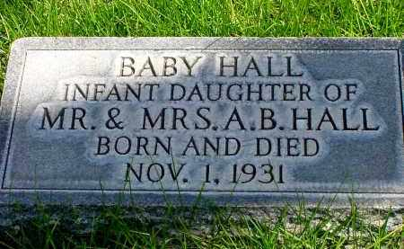 HALL, BABY DAUGHTER - Box Butte County, Nebraska | BABY DAUGHTER HALL - Nebraska Gravestone Photos