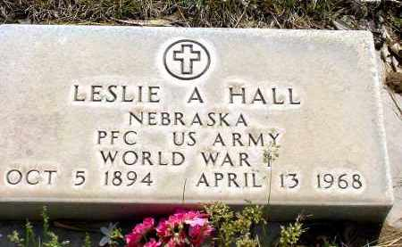 HALL, LESLIE A. - Box Butte County, Nebraska | LESLIE A. HALL - Nebraska Gravestone Photos