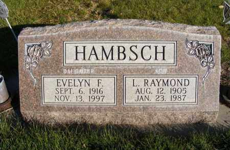 HAMBSCH, EVELYN F. - Box Butte County, Nebraska | EVELYN F. HAMBSCH - Nebraska Gravestone Photos